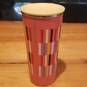 Starbucks travel mug.
